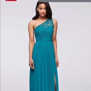 NWT - floor length one shoulder gown